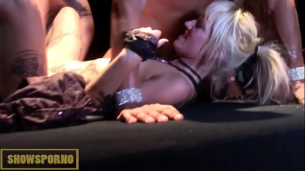 Orgy, Pornstar, Stage, On stage